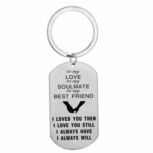 To My Love I Love You Dog Tag Pendant Necklace Key Chain Keyring Keychain Gifts