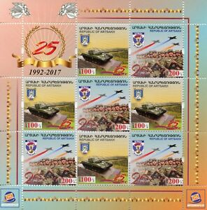 Karabakh-Republic-of-Artsakh-2017-MNH-Defense-Army-8v-M-S-Tanks-Military-Stamps