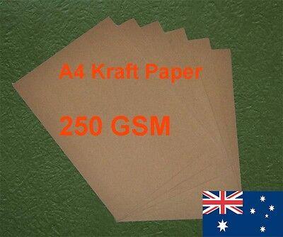 15 X A4 Kraft Paper Brown 250GSM All Wood Pulp Made