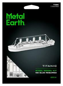 Fascinations-Metal-Earth-TITANIC-Ship-3D-Laser-Cut-Steel-Puzzle-Model-Kit-MMS030