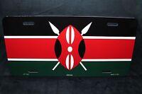 Kenya Flag Metal Novelty License Plate Bendera Ya Kenya