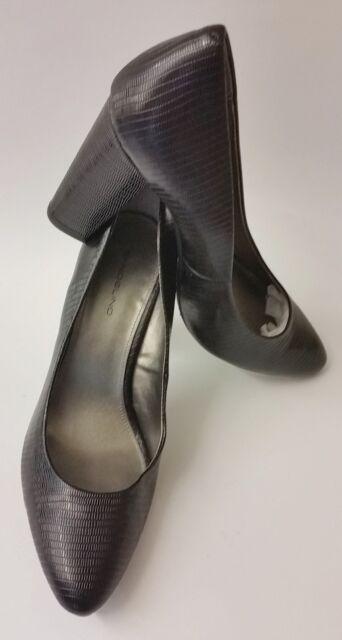 Bandolino Shoes Heels Black Textured Womens Size 11 M