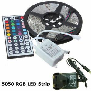 1M-2M-3M-4M-5M-QUALITY-RGB-LED-LIGHT-STRIP-ROPE-KIT-5050-MULTI-COLOUR-UK-PLUG