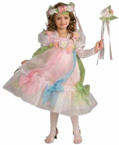 Mayflower Princess Flower Renaissance Fairy Fancy Dress Halloween Child Costume