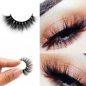 e75c04615be Mink Natural 100% Real Thick False Fake Eyelashes Eye Lashes Makeup ...