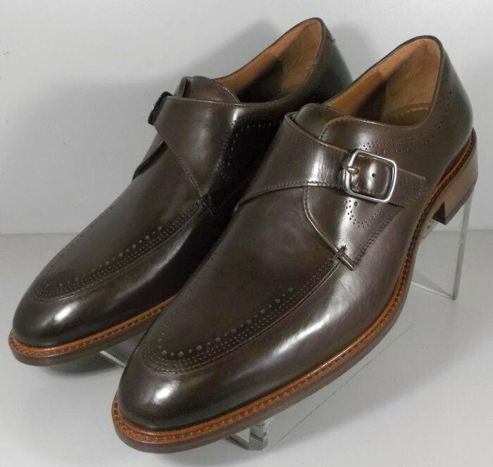 152844 SP50 Chaussures Hommes Taille 9 m en Cuir Marron Moine Boucle Johnston & Murphy
