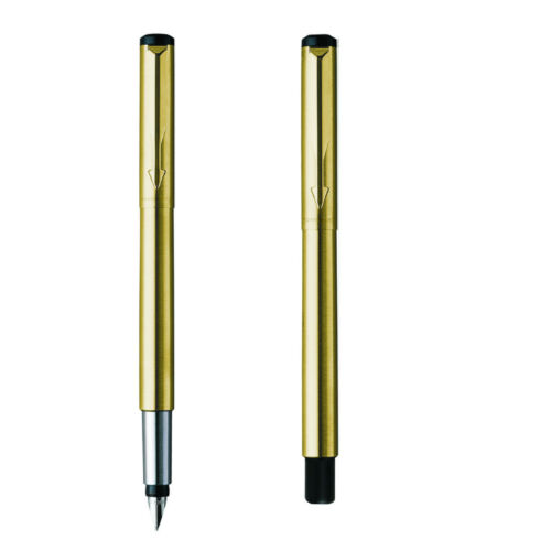 STAINLESS STEEL FREE CONVERTOR PARKER VECTOR FOUNTAIN PEN GOLD,SILVER BLACK