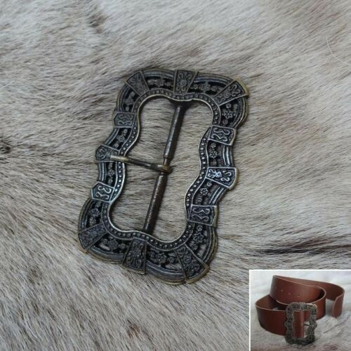 Role Play Medieval Renaissance /& Pirate Style Brass Belt Buckle Ideal for LARP