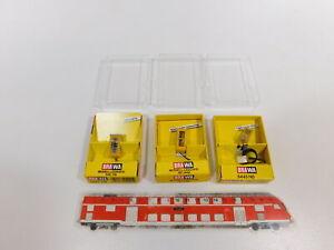 CH61-0-5-3x-Brawa-H0-Phone-Booth-Yellow-5441-5442-5445-Tested-Mint-Box