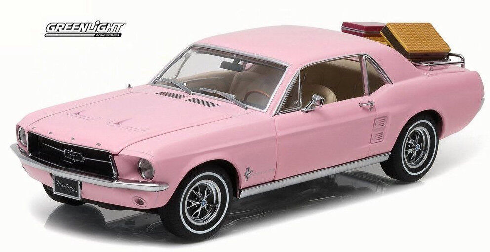 vertLIGHT 1 18 AUTO IN METALLO FORD MUSTANG 1967 rose ART 12966