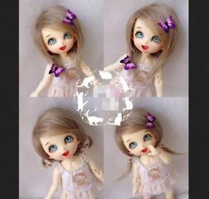 "5-6/"" 14cm BJD fabric fur wig Flaxen for AE PukiFee lati 1//8 Doll"
