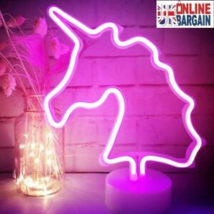 Details About Unicorn Lights Pink Neon Signs Led Lamp Home Decoration Room Party