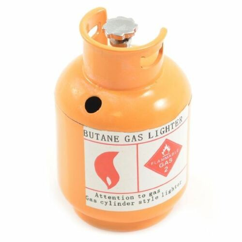 Fastrax Scale Painted Alloy Gas Bottle FAST2349O Orange RED 60mm x 38mm dia