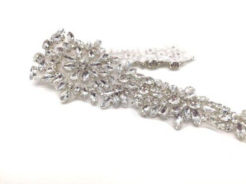 Hermosa Coser Hierro en Diamantes de Imitación de Cristal Motivo Vestido para Boda Faja Cinturón