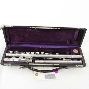Early-20th-Century-Couesnon-Handmade-French-Flute-EXQUISITE