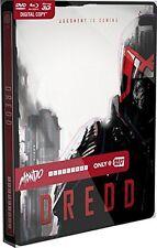 Dredd: Best Buy MONDO X Exclusive SteelBook #005 [Blu-ray 3D + 2D + DVD] NEW