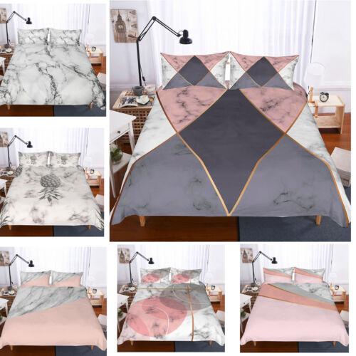 3D Colourful Marble Print Duvet Cover Bedding Set Pillowcase Comforter Cover Set