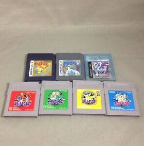 7-Pokemon-set-Gold-Silver-Crystal-Red-Green-Yellow-Blue-Nintendo-GameBoy-GB-GBC