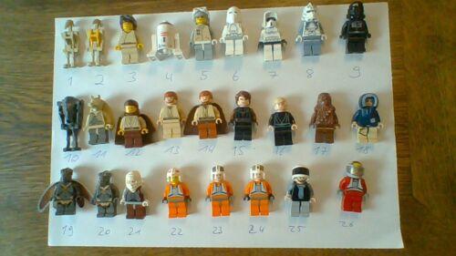 Figuren auswählbar Lego Star Wars Figuren Nr.1-3 aus Figurensammlung 2000-2009
