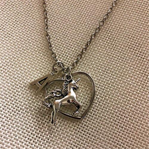 personnalisé Argent UNICORN Charm Collier Licorne cadeau pour Licorne amant