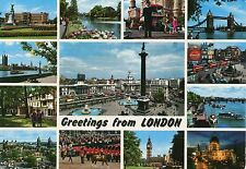 Alte Postkarte - Greetings from London