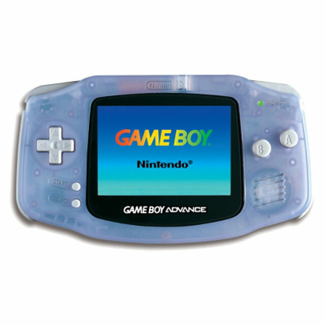 Nintendo Game Boy Advance GBA Glacier Clear Blue - Used for a Demo