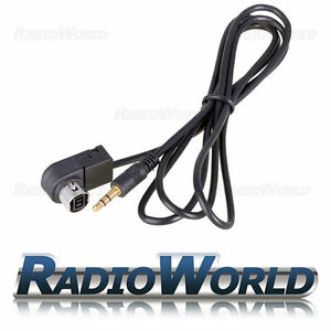 Alpine Ai-Net Aux Input Cable Adapter iPod//iPhone MP3 3.5mm Gold Jack KCA-235B