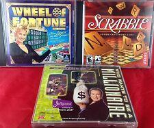 Scrabble Wheel of Fortune Millionaire CD-ROM Games Interactive Lot of 3 Win 95