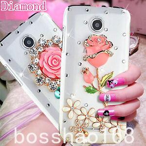 Bling-Clear-Crystal-Diamonds-Soft-TPU-back-Ultra-thin-Phone-Case-Cover-Skin-B-23