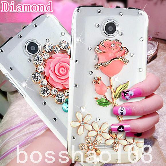 Bling Clear Crystal Diamonds Soft TPU back Ultra-thin Phone Case Cover Skin B-2