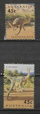AUSTRALIA , 1993  , DINOSAURS, SET OF 2 STAMPS , PERF , MNH ,