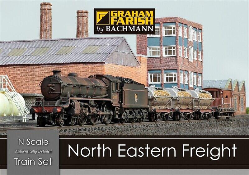 370-090 Graham Farish Bachmamm North Eastern Freight N Gauge Model Train Set NIB