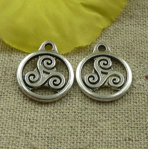 Free Ship 134 pieces tibetan silver nice charms 19x15mm #4565