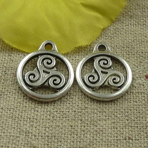 Free Ship 134 pieces tibetan silver nice charms 19x15mm #4565