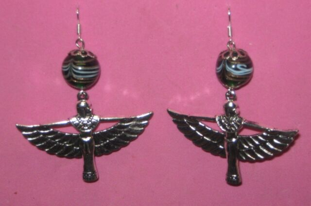 """WINGED ISIS"" -HANDCRAFTED  EARRINGS"