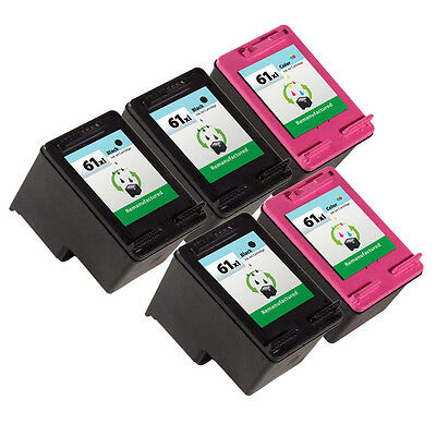 5 Pack HP 61XL Ink Cartridge CH563WN CH564WN Deskjet 3050A Deskjet 3054 Printer