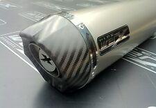 Suzuki GSX GSXF 650 F 07- Titanium Round, Carbon Outlet, Exhaust Can, Road Legal