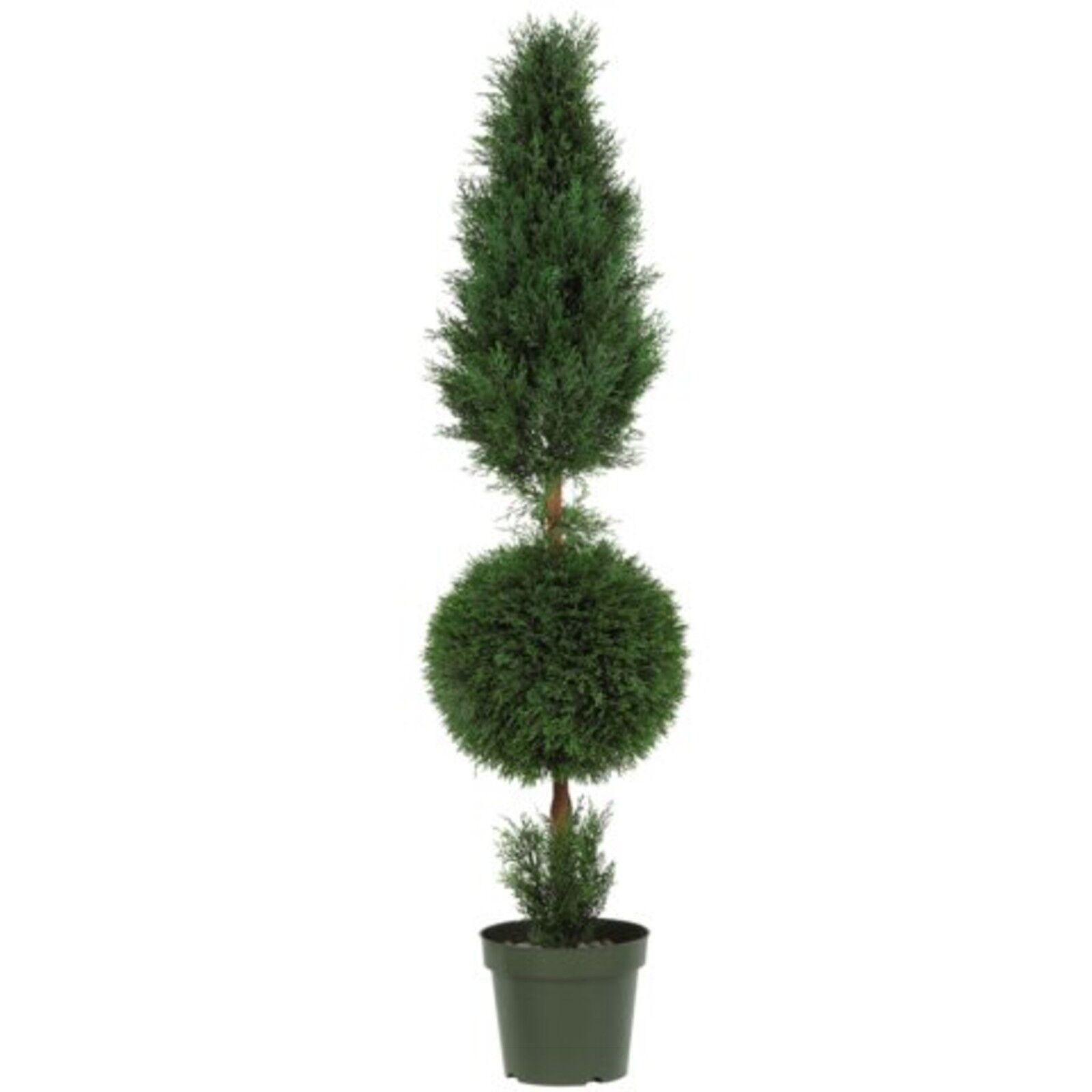 Decorative Natural Looking Artificial 5' Cypress Ball Cone Silk Tree Faux Plants