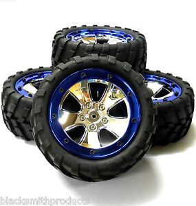 BS702-020-1-10-Scale-RC-Rock-Crawler-Off-Road-Wheels-and-Tyres-Chrome-Plastic-4