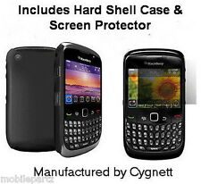 Cygnett Black Soft Shell Case & Screen Guard for BlackBerry Curve 8520 & 9300 3G