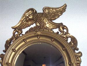 Vtg-SYROCO-Eagle-Convex-Wall-Mirror-Round-Nautical-Porthole-Bulls-Eye-Military