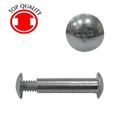 "Steel Zinc 25sets Combo Truss Head Post Nut Screw #8-32 X 1//2/"" Phillips//Slot"