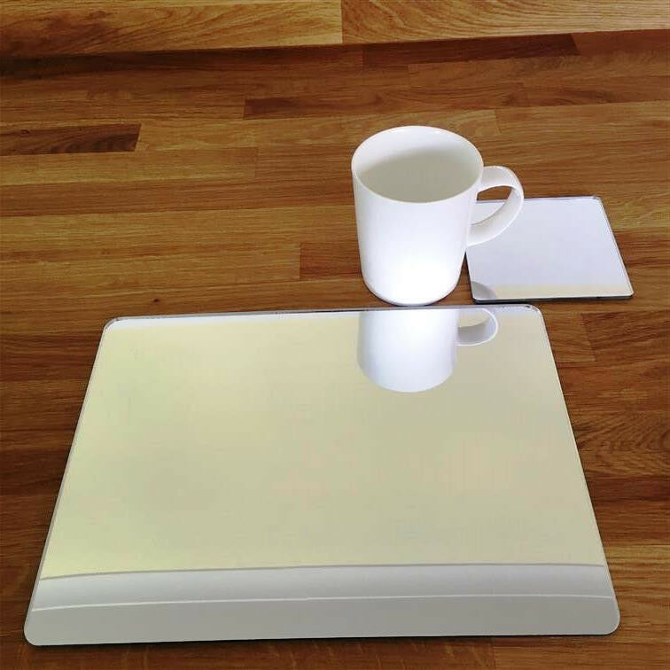 Rectangular Placemat and Square Coaster Set - Mirrored