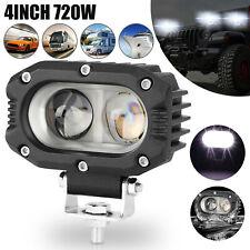 4inch 720w Led Work Light Bar Spot Pods Fog Driving Lamp Offroad Atv Suv Truck