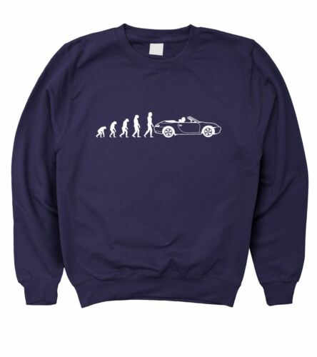 5XL Mens Evolution Of Man To Porsche 911 Carrera Convertible 996 Sweatshirt S