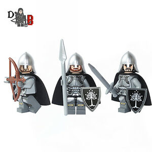 Lord-of-the-rings-Gondor-Soldiers-3-Minifigures-Made-using-LEGO-amp-custom-parts