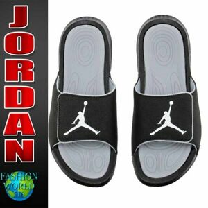 6d5eb5897 Nike Men s Size 12 Jordan Hydro 6 Slides Sandal Black White Grey ...