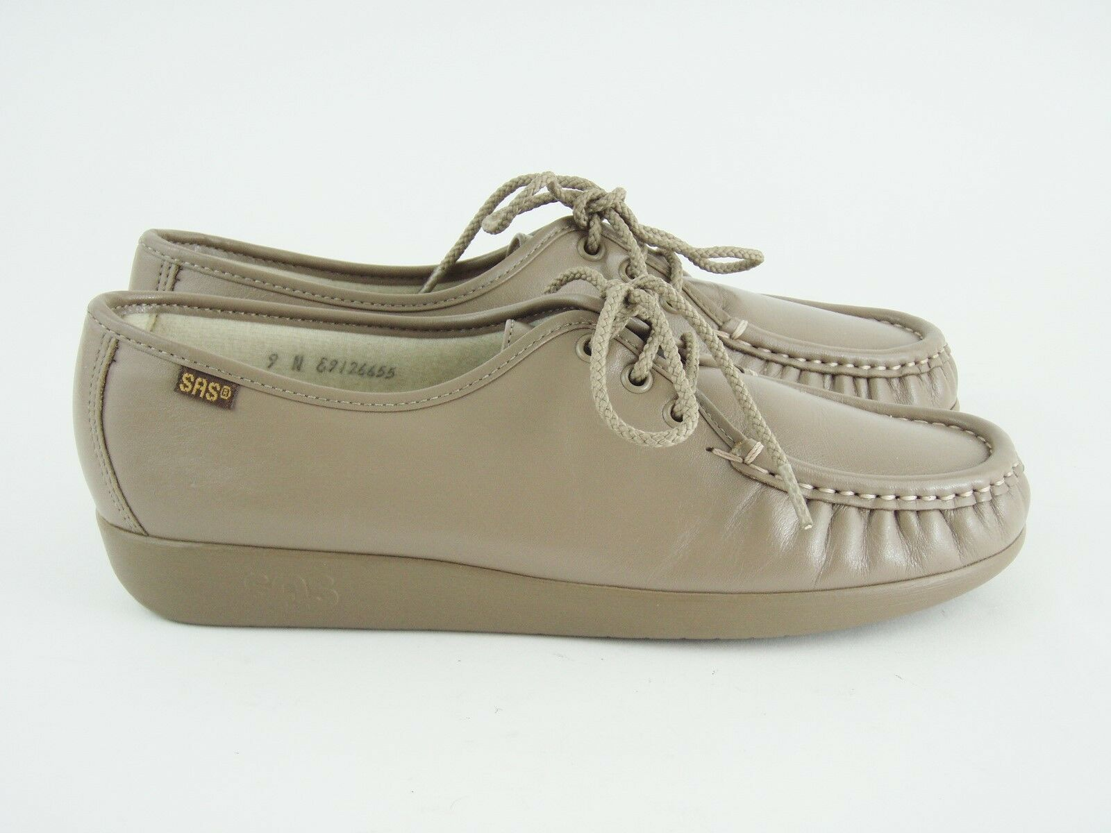 MINT SAS Mocha  Siesta    Leather Lace Up Oxfords shoes - Size 9 N - IN BOX  - EUC 26f42f