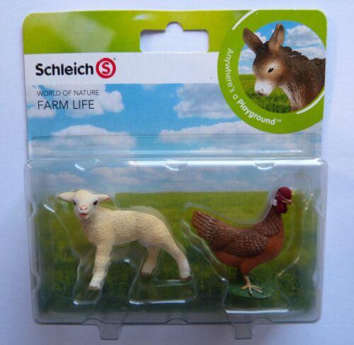 Schleich  Farm Life Mini Spielset Schaf und Henne  Neu u OVP