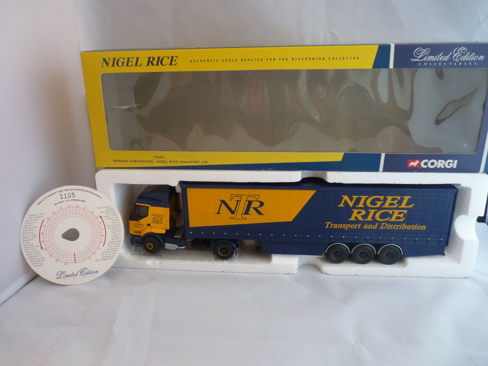Corgi 75605 'Nigel Rice' Limited Edition Renault curtainside